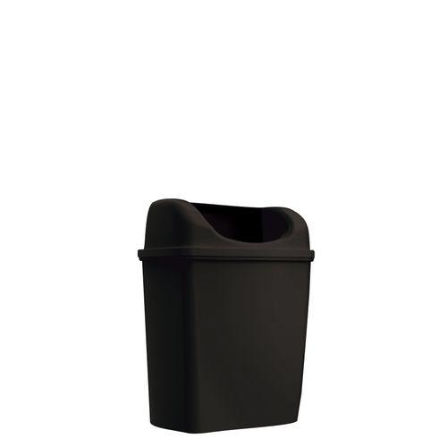 Poubelle Edge Mini à poser/à suspendre noir 6L