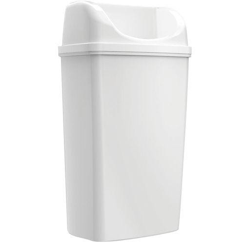Poubelle Edge Maxi à poser/à suspendre blanc 50L