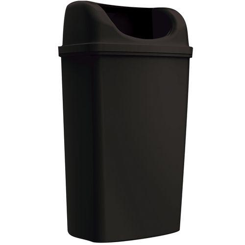 Edge afvalemmer Maxi staand/hangend zwart 50L