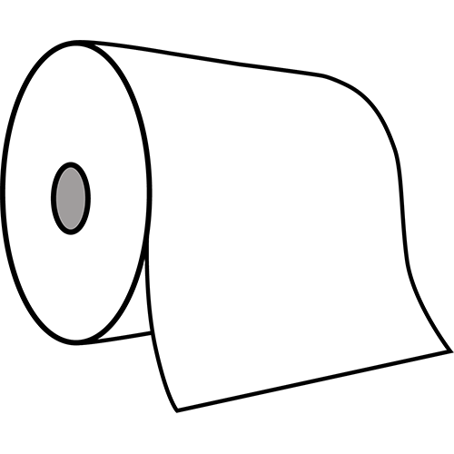 Edge handdoekrol tweelaags cellulose 6x140m