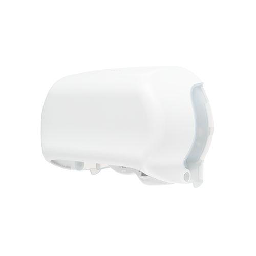 Edge toiletpapierdispenser Twin Coreless wit