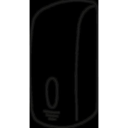 Edge toiletbrilreinigerdispenser zwart