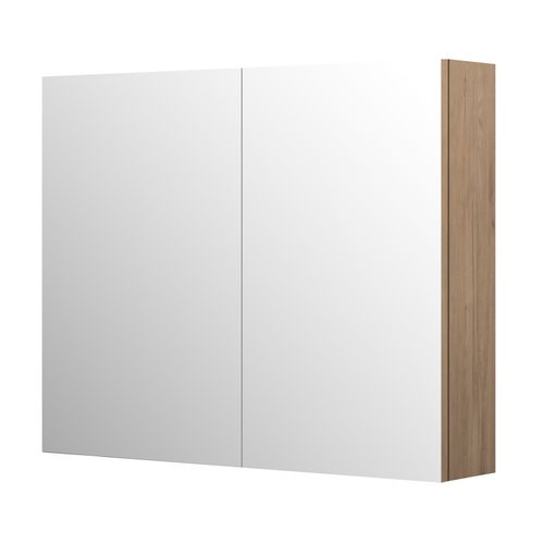 Aquazuro spiegelkast Napoli 90cm as grijze eik
