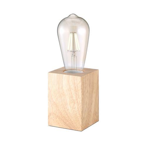 Home Sweet Home lampe à poser Eliaz carré bois E27