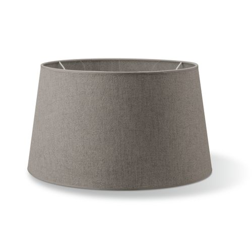 Abat-jour Home Sweet Home Melrose rond gris clair 45cm