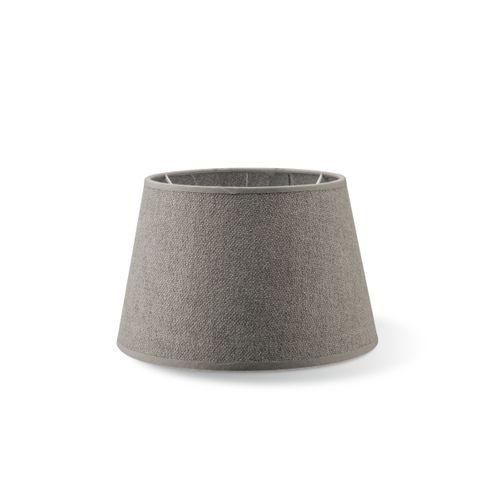 Abat-jour Home Sweet Home Melrose rond gris clair 20cm