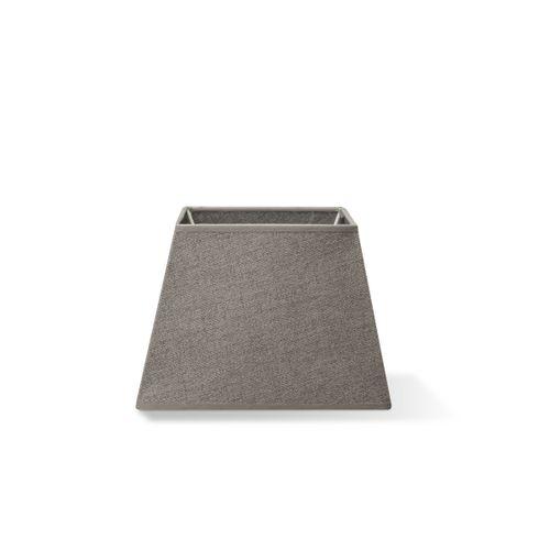 Abat-jour Home Sweet Home Melrose carré gris clair 20cm