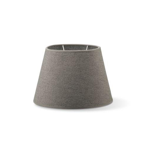 Abat-jour Home Sweet Home Melrose ovale gris clair 24cm