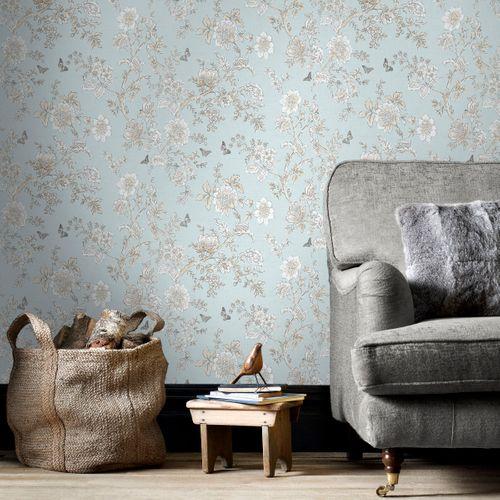 Papierbehang Homestyle FH37537 blauw