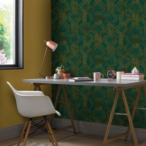 Papier peint intissé Zero 9726 vert