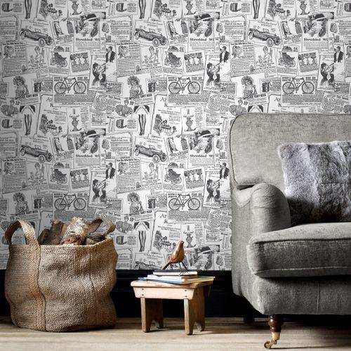 Papierbehang Homestyle BK32083 zwart