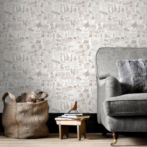 Papierbehang Homestyle FH37500 beige