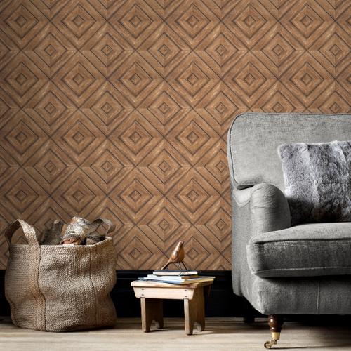 Papierbehang Homestyle FH37512 bruin
