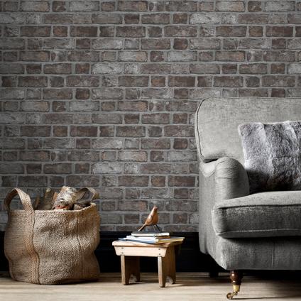 Papierbehang Homestyle FH37519 grijs