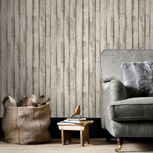 Papierbehang Homestyle FH37533 taupe