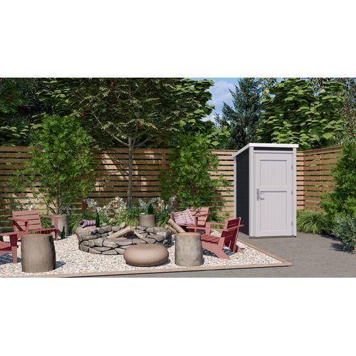 Weka tuinhuis 367 GR1 antraciet 95x102cm