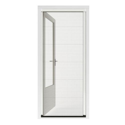 Porte moustiquaire plissé Cando Premium E 130x206-209 blanc