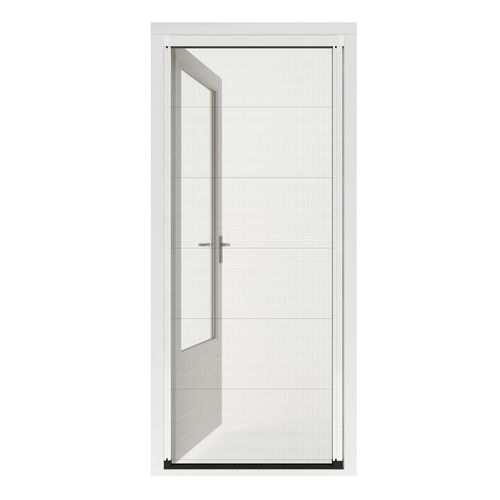 Porte moustiquaire plissé Cando Premium R 130x245-248 blanc