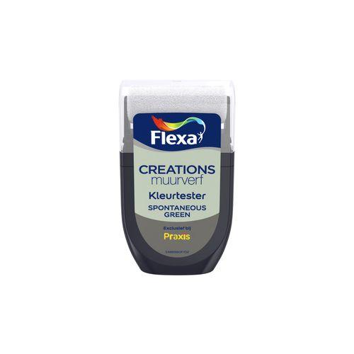 Flexa muurverf tester Creations spontaneous green 30ml