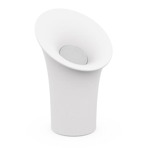 Newgarden tuinlamp met speaker Nipper wit 40cm