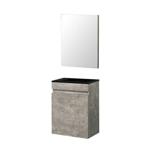 Meuble lave-mains Aquazuro Napoli gris béton 40cm