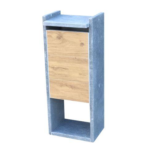 Boîte aux lettres digitale Everest wood pierre belge XL