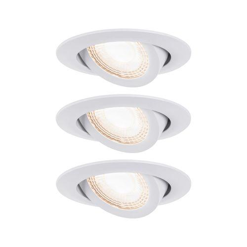 Paulmann inbouwspot LED kantelbaar wit 3x6W