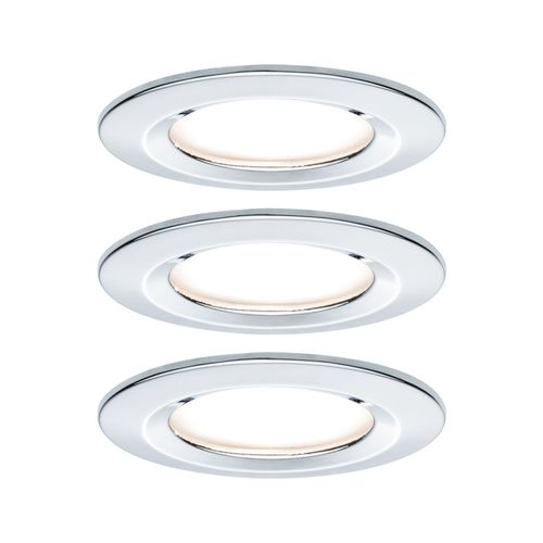 Paulmann spot encastrable LED Nova autour chrome IP44 51cm GU10 3x6,5W