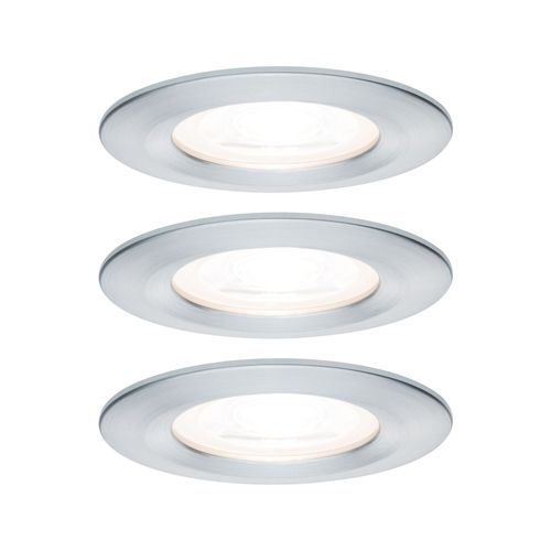 Paulmann spot encastrable LED Nova autour aluminium IP44 51mm GU10 3x6,5W