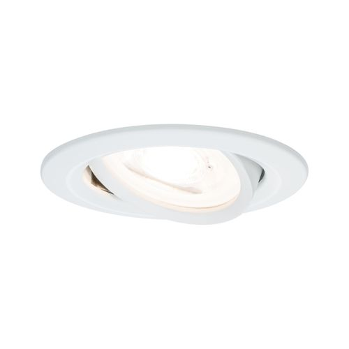 Paulmann inbouwspot LED Nova rond kantelbaar wit 51mm GU10 6,5W