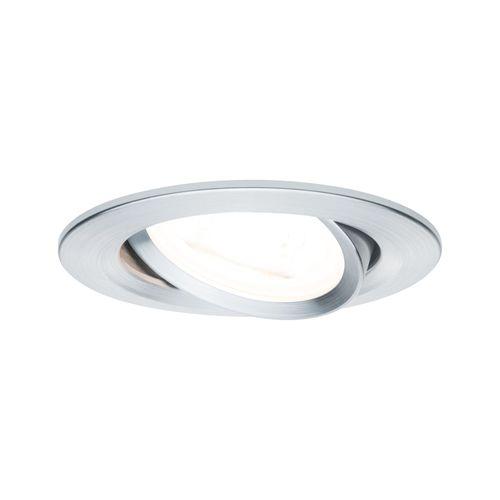 Paulmann inbouwspot LED Nova rond kantelbaar aluminium 51mm GU10 6,5W