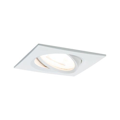 Paulmann inbouwspot LED Nova vierkant kantelbaar wit 51mm GU10 6,5W