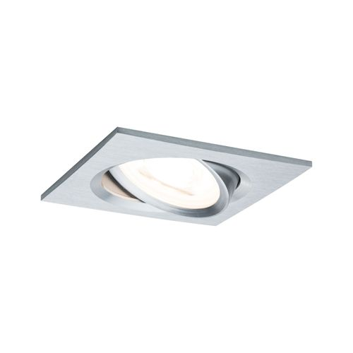 Paulmann inbouwspot LED Nova vierkant kantelbaar aluminium 51mm GU10 6,5W
