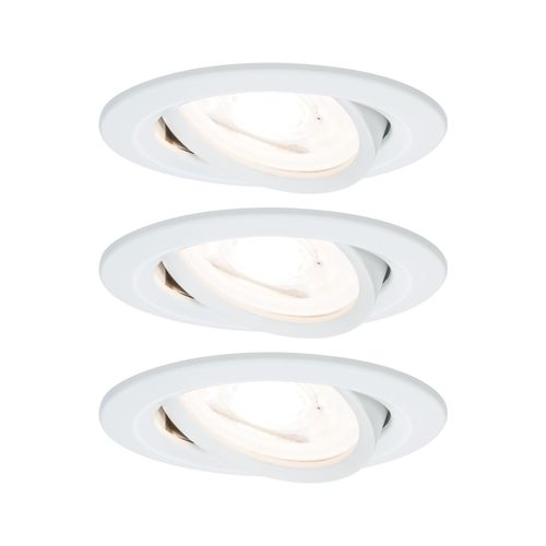 Paulmann inbouwspot LED Nova rond kantelbaar 3-stapdim wit 51mm GU10 3x6,5W