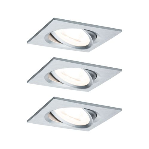 Paulmann spot encastrable LED Nova Coin carré orientable aluminium 3x6,5W