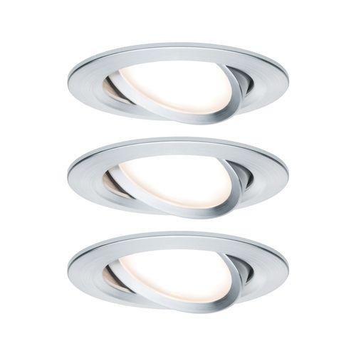 Paulmann inbouwspot LED Nova Coin 3-stapdim rond kantelbaar aluminium 3x6,5W