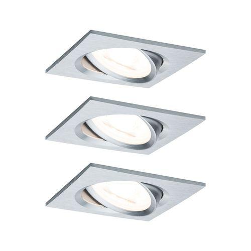 Paulmann inbouwspot LED Nova Coin 3-stapdim vierkant kantelbaar aluminium LED 3x6,5W