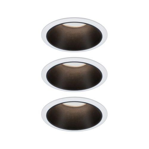 Paulmann inbouwspot LED Cole Coin 3-stapdim wit zwart 3x6,5W