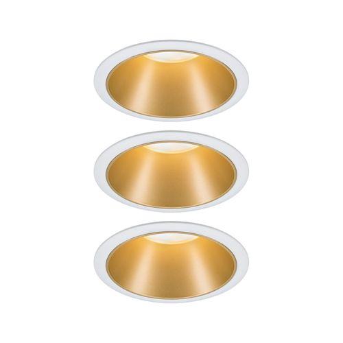 Paulmann inbouwspot LED Cole Coin 3-stapdim wit goud 3x6,5W