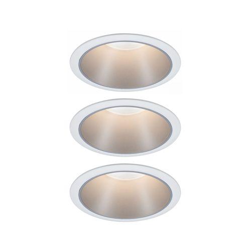 Paulmann inbouwspot LED Cole Coin 3-stapdim wit zilver 3x6,5W