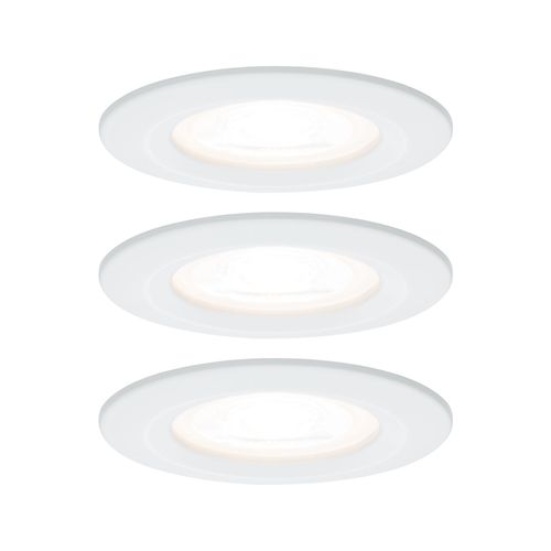 Paulmann inbouwspot LED Nova rond wit IP44 51mm GU10 3x6,5W