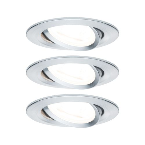 Paulmann spot encastrable LED Nova autour orientable 3-stepdim aluminium 51mm GU10 3x6,5W