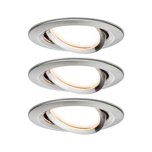 Paulmann inbouwspot LED Nova Coin rond kantelbaar ijzer 3x6,5W