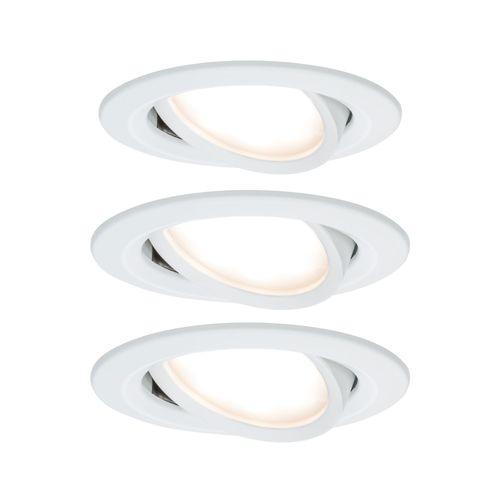 Paulmann inbouwspot LED Nova Coin rond kantelbaar wit 3x6,5W