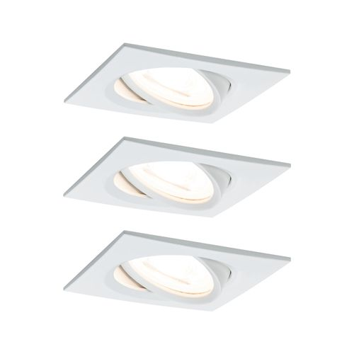 Paulmann spot encastrable LED Nova Coin carré orientable blanc 3x6,5W