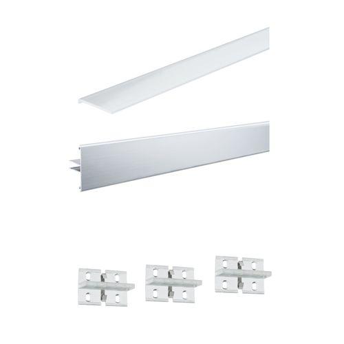 Paulmann duo profiel Function set aluminium 100cm inclusief diffusor en 3 clips