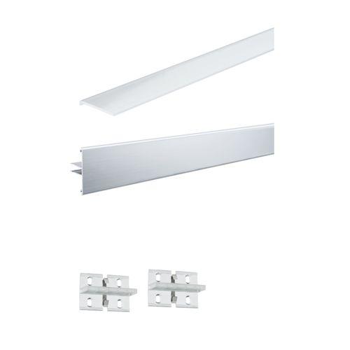 Paulmann Duo Profil Function set aluminium 100cm inclusief diffusor en 2 clips