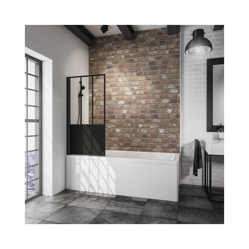Schulte badwand Black Style 1-delig 80x140cm decor zwart