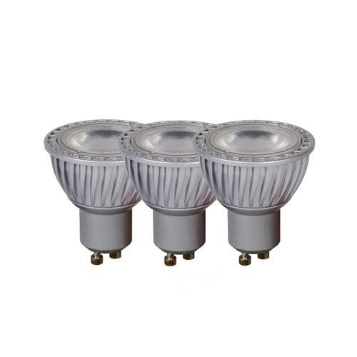 Spot LED Lucide gris 15W GU10 - 3 pièces