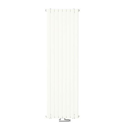 Radiateur design Henrad Verona vertical blanc crème 53,8x180cm